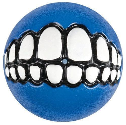 Rogz GRINZ míček se zuby modrý 7,8 cm