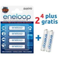 Sanyo baterije eneloop AAA 4 kom + darilo 2 kom