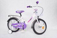 """Kimet Simple Bike 16"""" biały/fioletowy"""