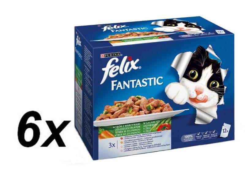 Felix Fantastic výběr se zeleninou 6 x (12x100g)