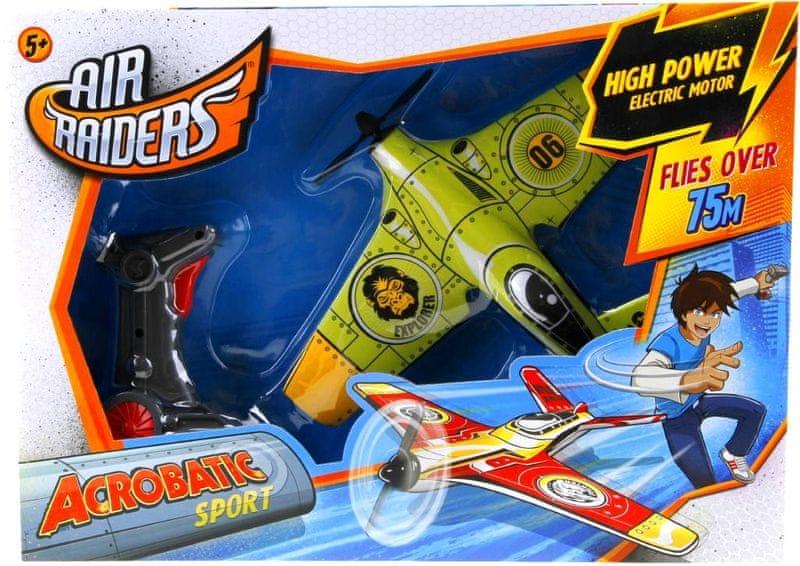 Alltoys Air Raiders - letadlo + nabíječka zelené
