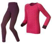 ODLO Dětský set funkční triko dlouhý rukáv a spodky Warm Pink 140