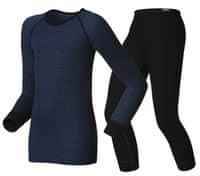 ODLO Dětský set funkční triko dlouhý rukáv a spodky Warm Blue 92