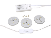 Dencop Lighting LED bodové osvětlení, set 3 ks, 3 x 3W