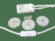 Dencop Lighting LED bodové osvetlenie, set 3 ks, 3 x 3W