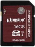 Kingston SDHC 32 GB (UHS-1 Speed Class 3) 90MB/s