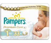Pampers Pieluchy PremiumCare 1 Newborn, 33 sztuki