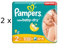 Pampers Duo Pack Active New Baby 2 Mini - 216 ks