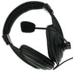 4World Stereofonní sluchátka s mikrofonem s pohodlnými náušníky, 3 m