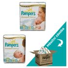 Pampers Premium Care Plenky Velikost 1 + Velikost 2 - 222 ks + Poukaz na zľavu 1 € na ďalší nákup balenia plienok Pampers nad 25 €.