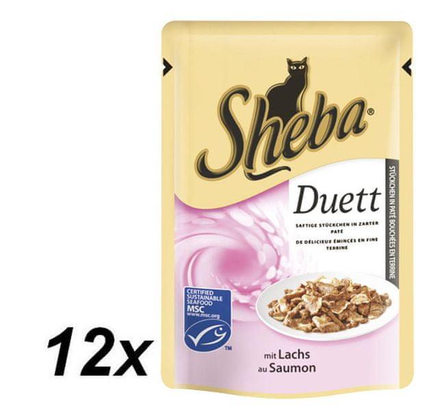 Sheba DUETT s lososem 12 x 85g