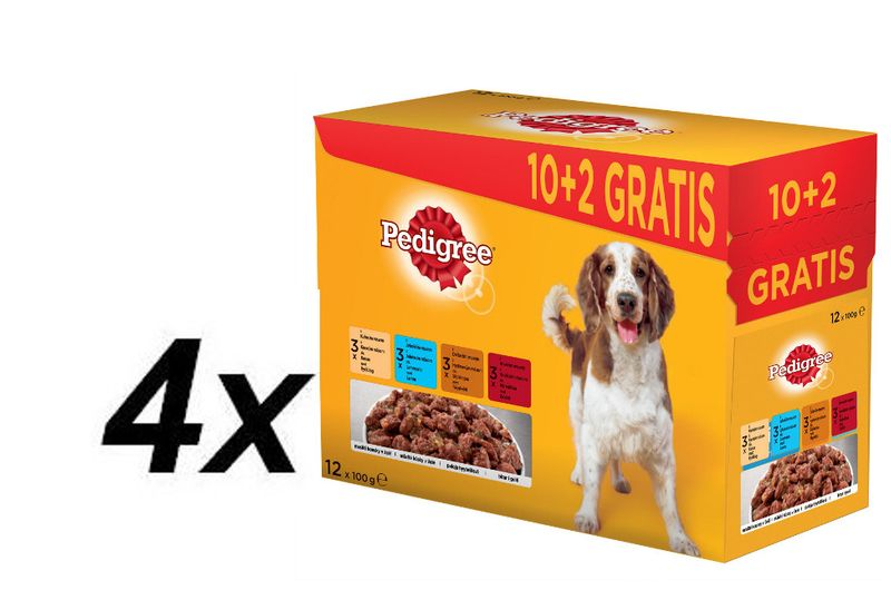 Pedigree kapsičky Adult 4 x ( 12 x 100g)