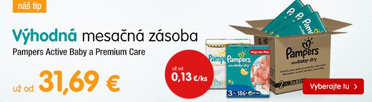 Výhodná mesačná zásoba Pampers!