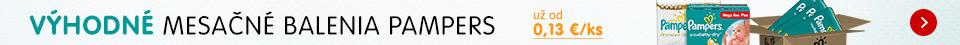 Výhodná mesačná zásoba jednorázových plienok Pampers!