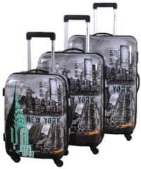 Leonardo New York-set cestovních kufrů 3 ks