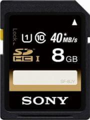 Sony SDHC 8GB (class 10/UHS-1) 40MB/s + stylus ZDARMA! (SF8U-STYLUS)