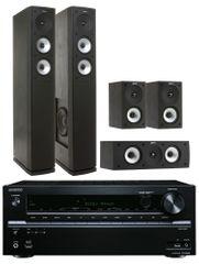 Onkyo TX-NR636 (Black) + Jamo S 626 HCS (Black)