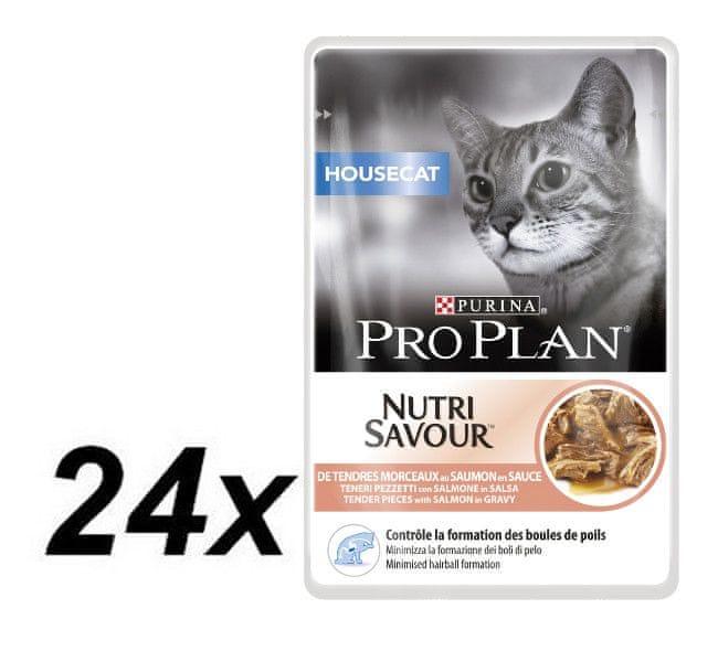 Purina Pro Plan CAT HOUSECAT Losos kapsička 24x85g
