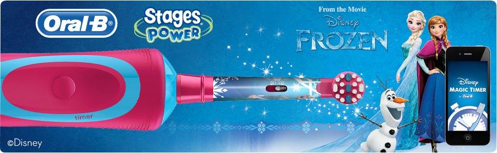 607984cfc Elektrická zubná kefka Oral-B Stages Power pre deti s postavičkami z  Ľadového kráľovstva má oscilačno-rotačnú technológiu a zaisťuje pokrokové  čistenie ...