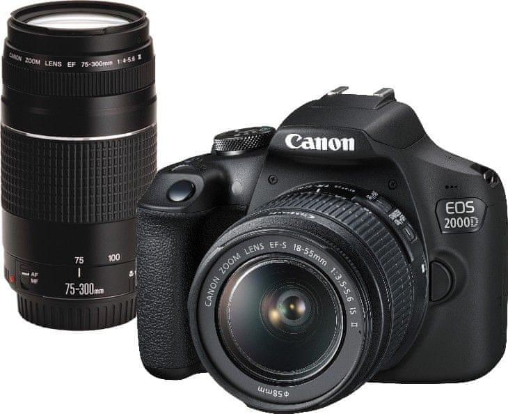 Canon EOS 2000D 18-55 75-300