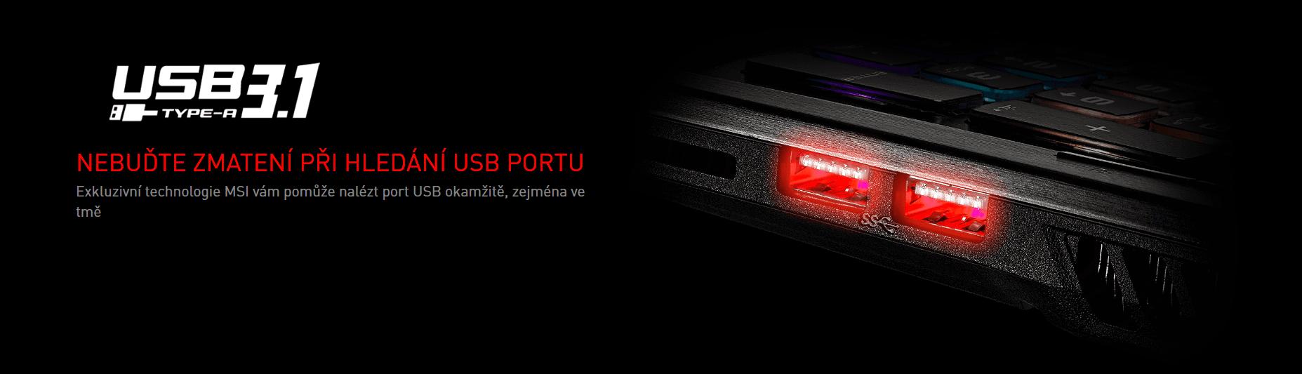 Nemůžete při večerním hraní najít USB port?