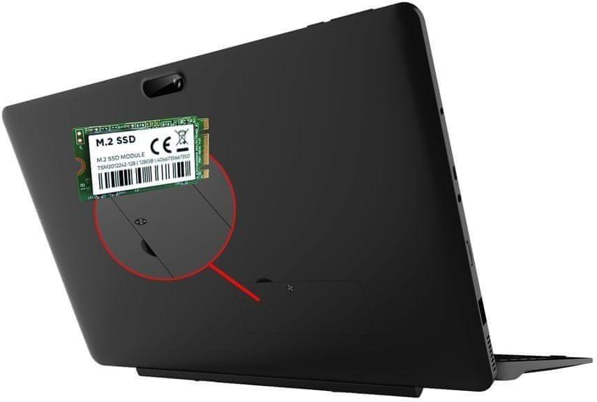 Přídavný M.2 SATA SSD slot