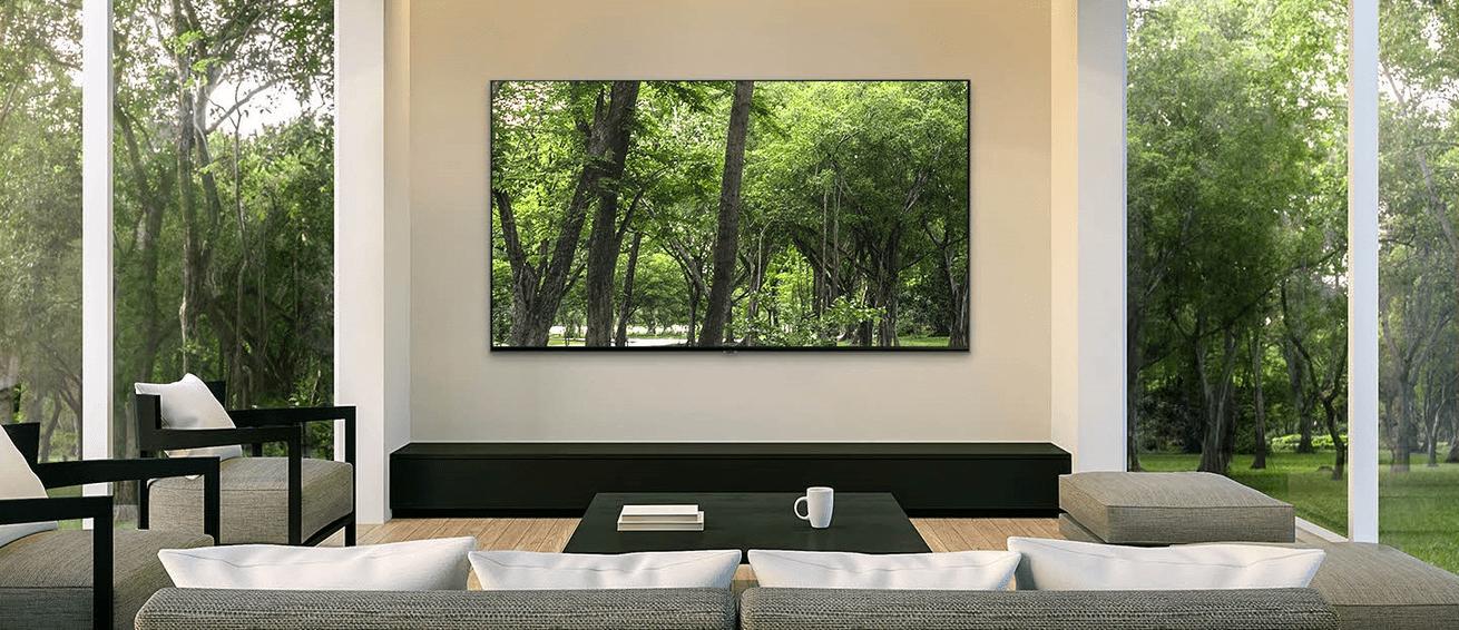 samsung tv televize qled 2019 quantum dot s 100% prostornino barv q80r in s fantastično barvito sliko z neopaznim qled okvirjem