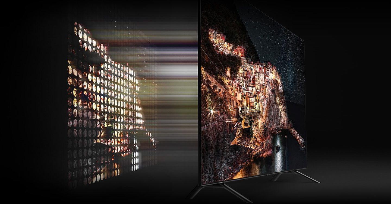samsung tv telewizor qled 2019 quantum dot 100% koloru q70r fantastyczny kolor doskonałość obrazu full array 4x