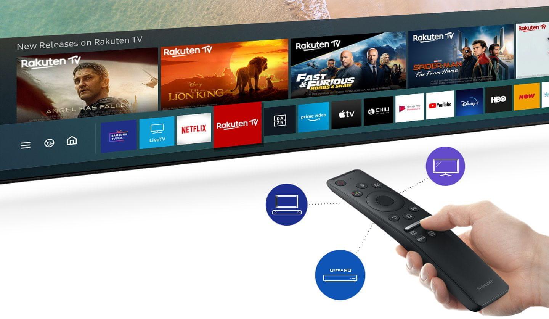 умный пользовательский интерфейс samsung tv qled 2020 4K