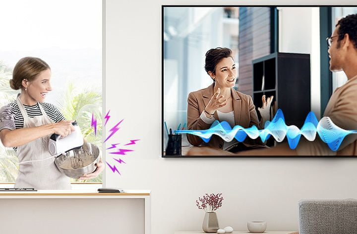 samsung tv televize qled 4K 2020 AVA dialogy zesílení hlasu