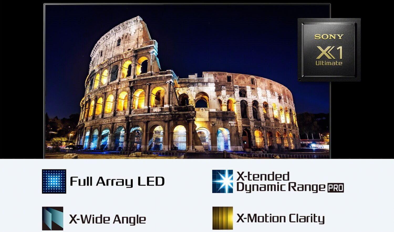 sony 4K TV Processor X1 Ultimate Full Array LED