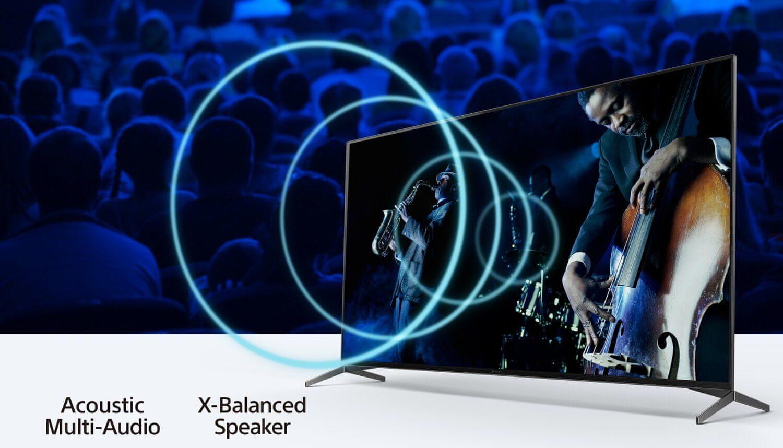 sony 4K ТБ акустичний мульти-аудіо x-збалансований динамік