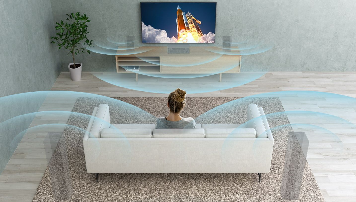 sony 4K TV Dolby Atmos ses S-Force Ön Surround