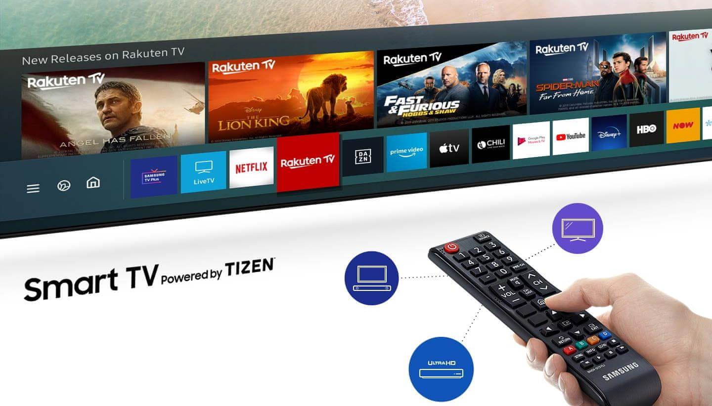 інтуїтивно зрозуміле меню пульта дистанційного керування Samsung Smart TV Hub One Remote