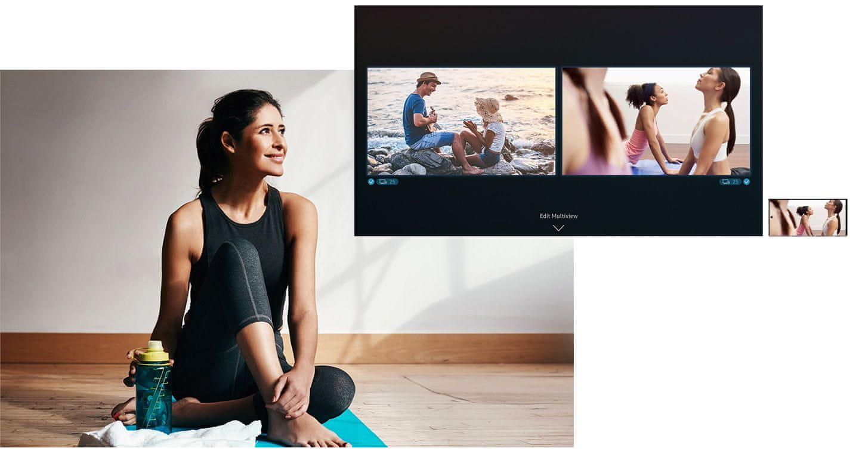 samsung tv televizor Serif Multi View smartphone