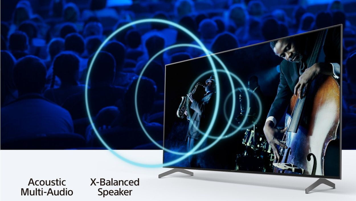 sony 4K TV acoustic multi-audio x-balanced speaker