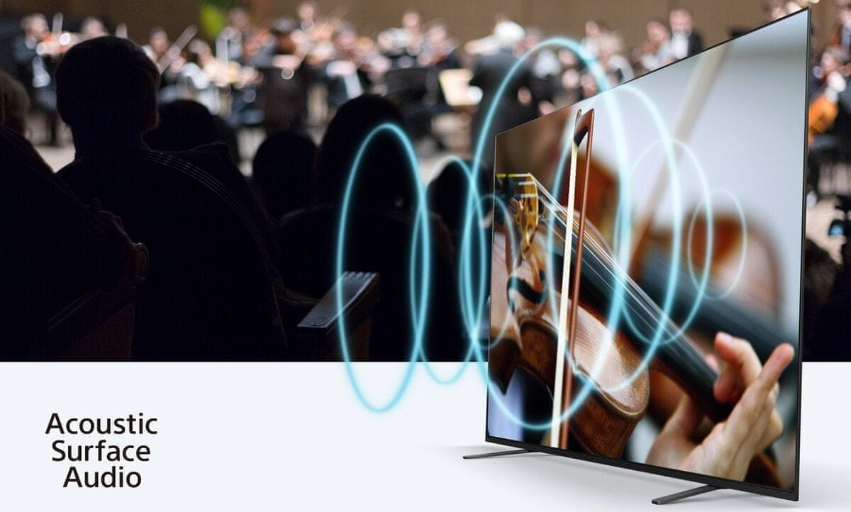 sony 4K TV OLED acoustic surface audio