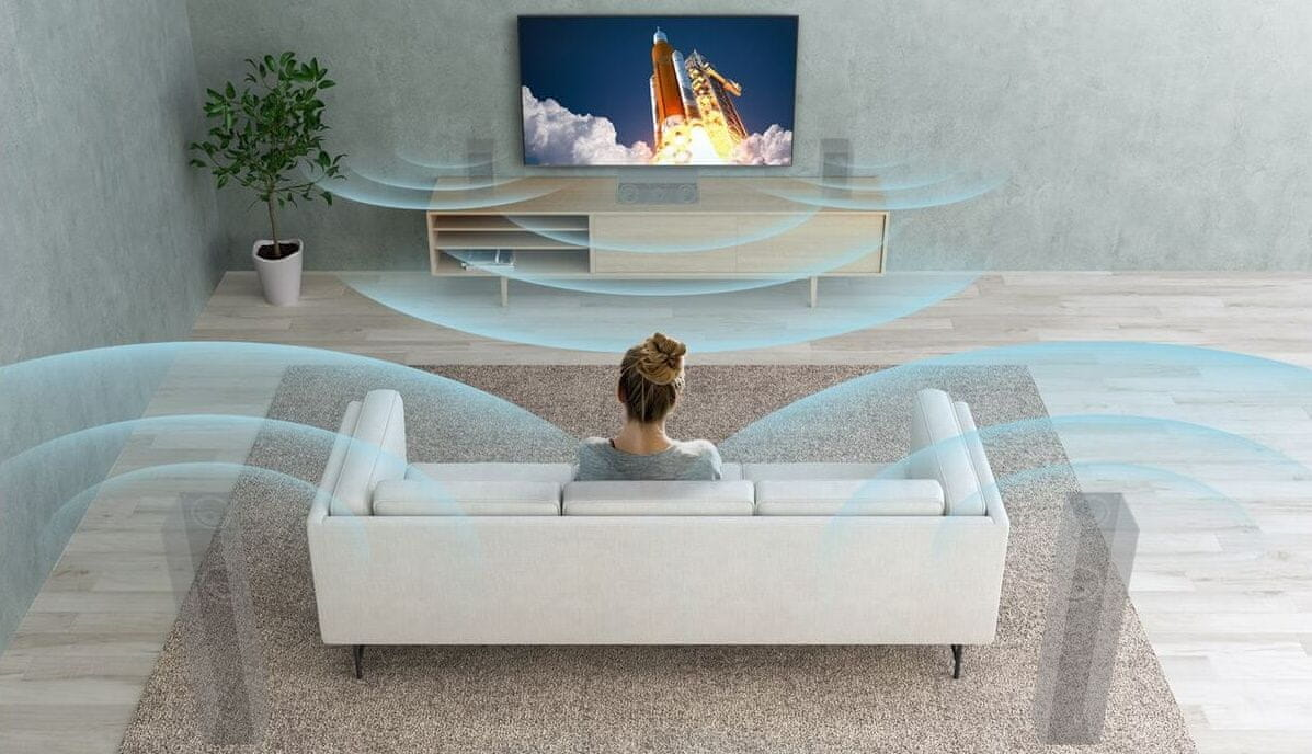 sony 4K TV OLED Dolby Atmos zvuk S-Force Front Surround