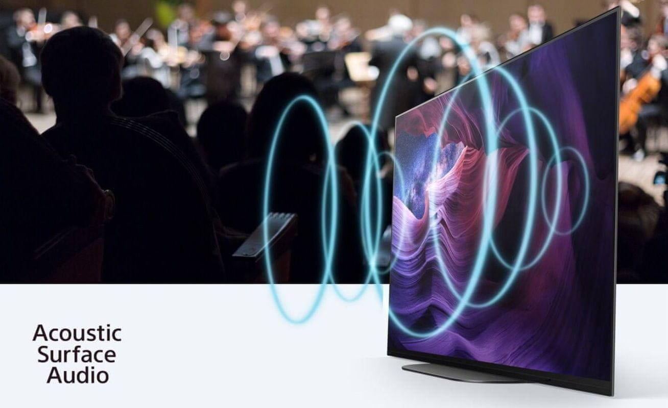 sony 4K TV OLED acoustic surface audio