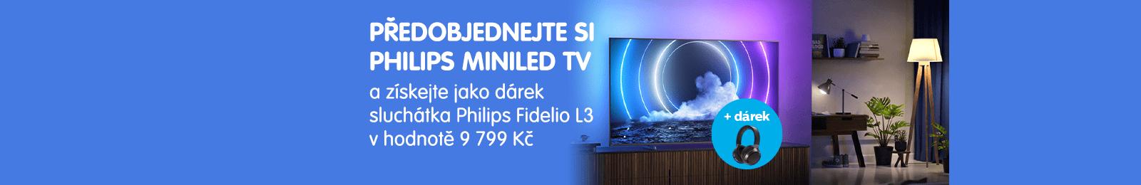 philips tv televize 2021 miniLED uhd 4K predobjednavka