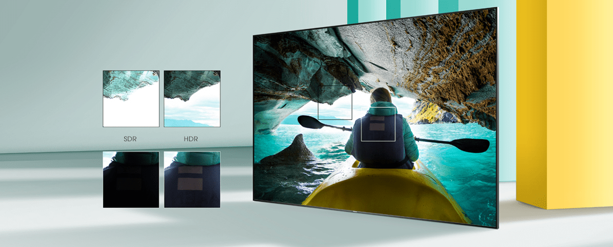 hisense tv televize  4K 2021 kontrast detail hdr