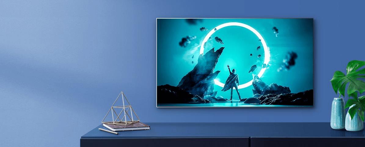 hisense tv televize 2021 4K minimalistický design tenký rámeček unibody