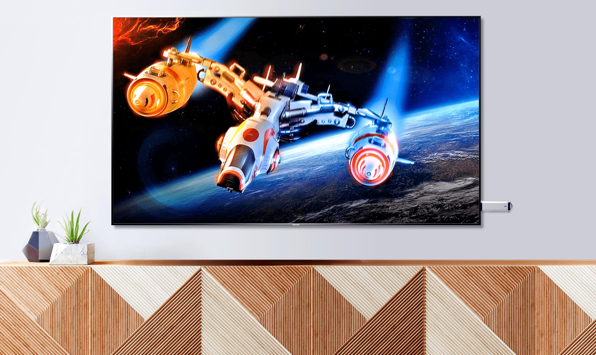 hisense tv televize  4K 2021 usb port přenos souborů multimediální