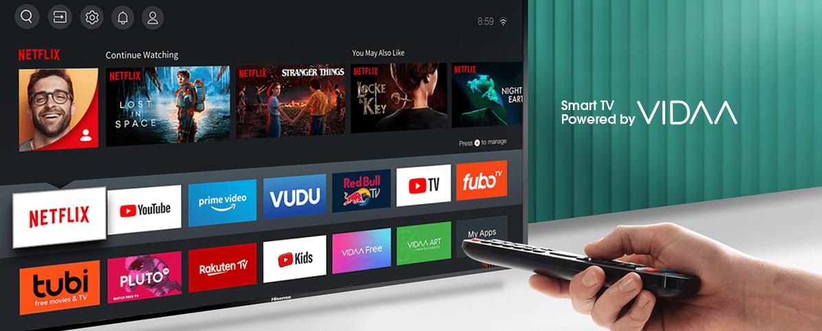 Hisense tv televízia 4K 2021 operačný systém vyladený vidaa 3.0