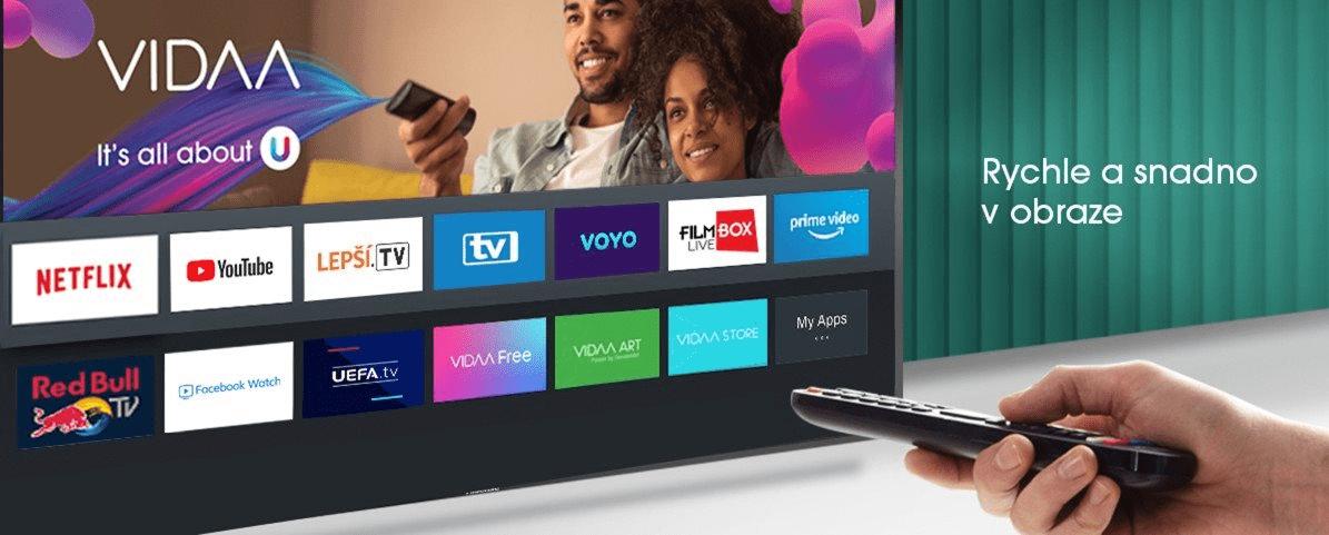 hisense tv televize uled 4K 2021 operační systém vyladěný vidaa U4.0