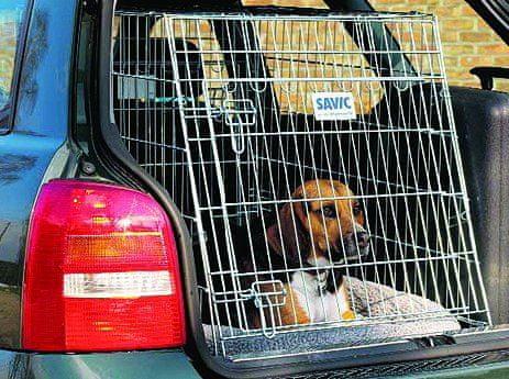 Savic Klec do auta Dog Residence mobilní skosená 91x61x71cm