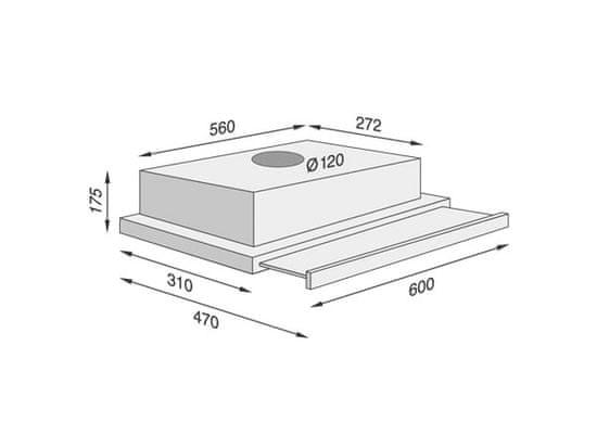 Concept OPV 3260 výsuvná digestoř