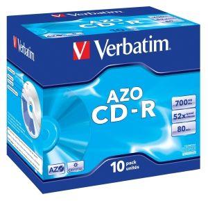 Verbatim CD-R medij 700MB 52x Crystal (43327), 10 kosov