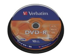 Verbatim DVD+R medij 4.7GB 16x (43498), 10 na osi