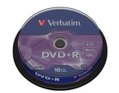 Verbatim DVD+R medij 4.7GB 16x, 10 na osi